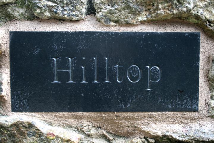 Hilltop House Sign by John Joekes