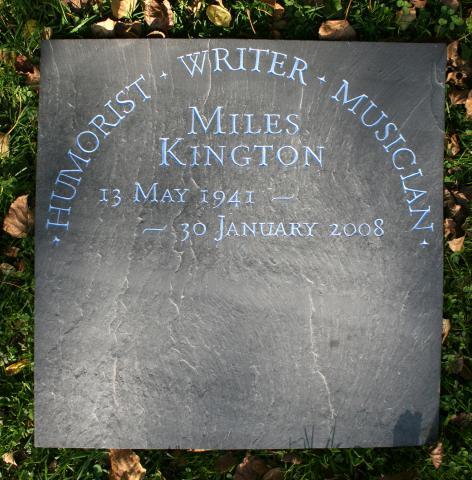 Miles Kington Memorial by John Joekes